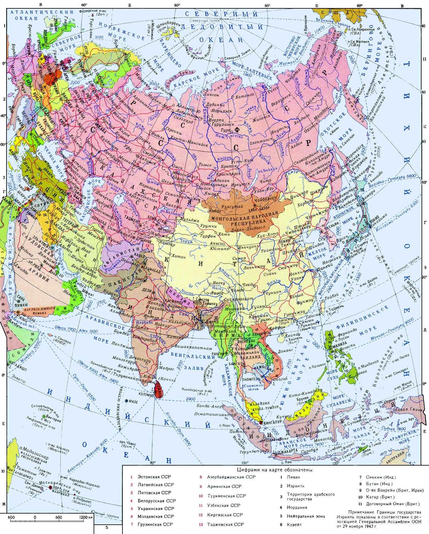 Азия страны азии страны мира