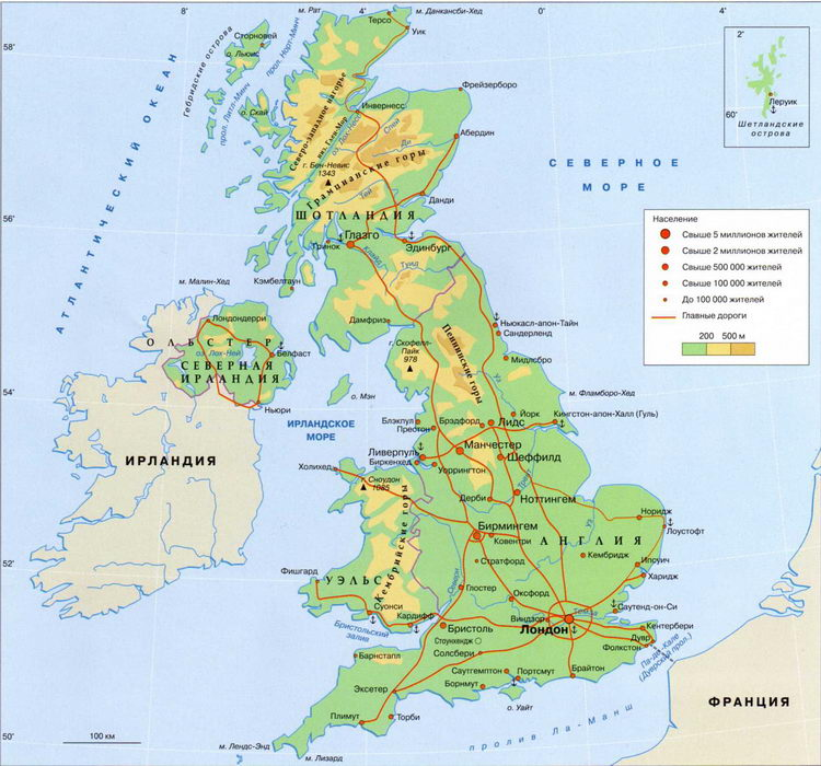 physical features of the united kingdom Physical geography land the land divides into a highland region and a lowland region the highlands occur north and west of a line from the tees river, in northern england, to the exe river, in the southwest.