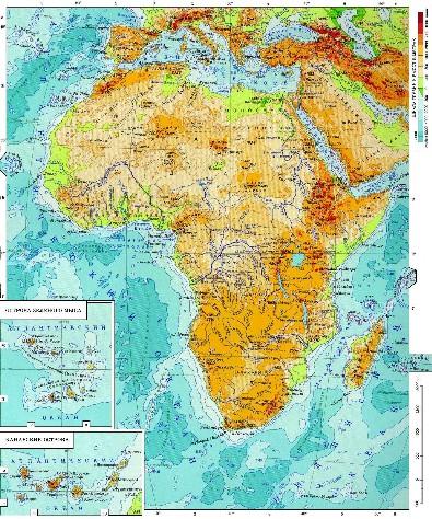 Африки политическая карта африки